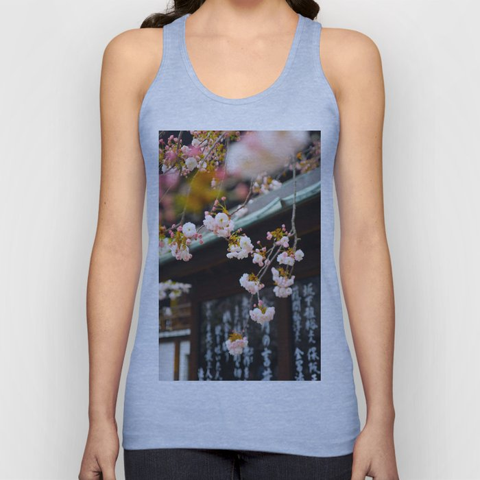 Japanese Calligraphy Shinto Shine With Pretty Cherry Blossoms Ancient Feudal Japanese Art & Culture Unisex Tank Top
