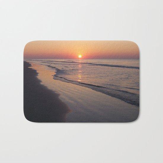 Sunrise Over The Atlantic Ocean Bath Mat