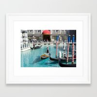 las vegas Framed Art Prints featuring las vegas by milena