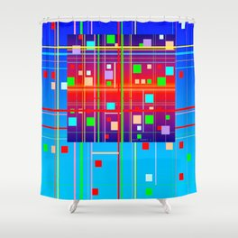 New Year's Shower Curtain