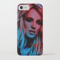 britney spears iPhone & iPod Cases featuring Britney Spears by Nic Moore
