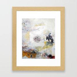Cow Says So. Framed Art Print