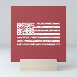 The Flag of the  USA with Rusty Effect II Mini Art Print