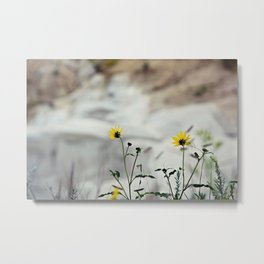 A touch of yellow Metal Print