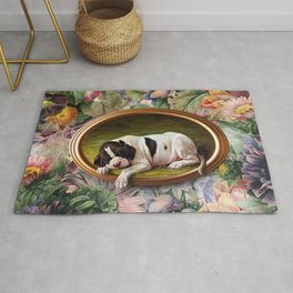 A small joke with a dog Rug