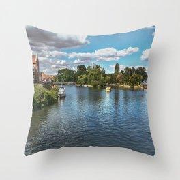 From Windsor Town Bridge Throw Pillow