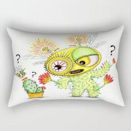 Creepy Cacto-Bee Rectangular Pillow