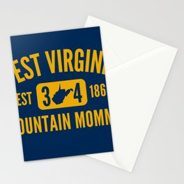 West Virginia Mountain Momma WV State Map 304 Stationery Cards