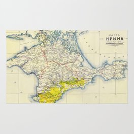 Vintage Map of Crimea (1922) Rug