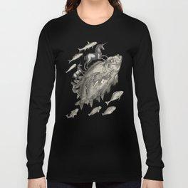 Wierd Fish and Unicorns Unite Long Sleeve T-shirt