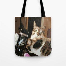Cat Selfie Tote Bag