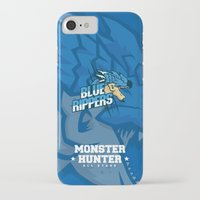 monster hunter iPhone & iPod Cases featuring Monster Hunter All Stars - Blue Rippers by Bleached ink