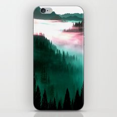 Misty Mountains Morning : Magenta Mauve Teal iPhone & iPod Skin