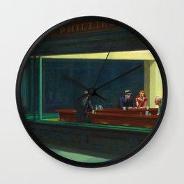 NIGHTHAWKS - EDWARD HOPPER Wall Clock
