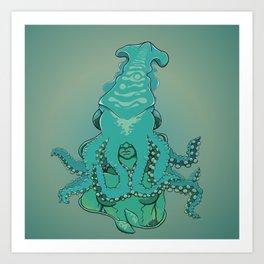 Tentacurls Art Print