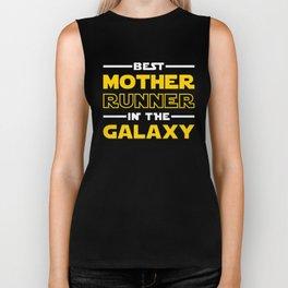 Best Mother Runner In The Galaxy Biker Tank