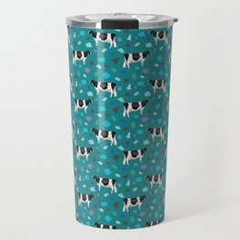 Terrazzo Holsteins // Teal Travel Mug
