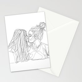 Girls kiss too Stationery Cards