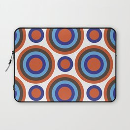 Circle Circle:  Orange, Blue, Turquoise + Brown Laptop Sleeve