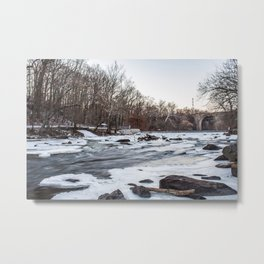 Ice River Metal Print