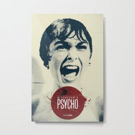 Hitchcock's Psycho Metal Print