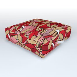 Book Collection in Red Outdoor Floor Cushion