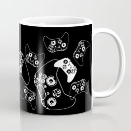 Video Game White on Black Coffee Mug