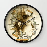 architect Wall Clocks featuring The Architect by Joshua Kulchar