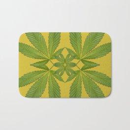 Marijuana Leaf Pattern Bath Mat