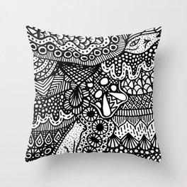 Doodle 13 Throw Pillow