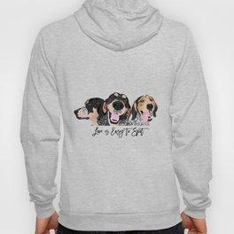 Love is Easy to Spot Bluetick Coonhound Hoodie