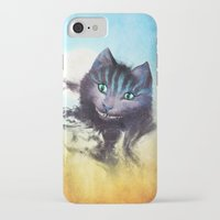 cheshire iPhone & iPod Cases featuring Cheshire Cat by Diogo Verissimo