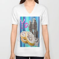 cookies V-neck T-shirts featuring COOKIES! by Aldo Couture