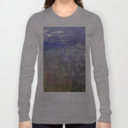 1926-Claude Monet-Water Lilies-199 x 425 Long Sleeve T-shirt