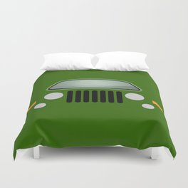 green jeep Duvet Cover