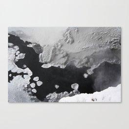 Waterfall molecules Canvas Print