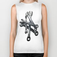 tool Biker Tanks featuring Tool by LewisLeathers