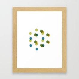 #408 Cubiverse – Geometry Daily Framed Art Print
