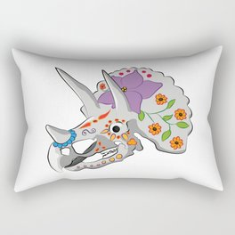 Day of the extinct: Triceratops Rectangular Pillow