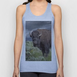 American Buffalo Bison in Yellowstone National Park Unisex Tank Top