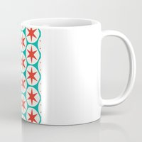 Retro Red Stars Pattern Coffee Mug