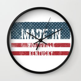 Made in Worthville, Kentucky Wall Clock