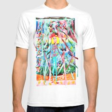 Spring Party White MEDIUM Mens Fitted Tee