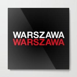 WARSAW Metal Print