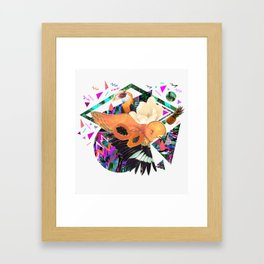 PAPAYA by Carboardcities and Kris tate Framed Art Print