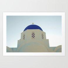 Santorini Churches V Art Print
