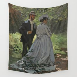 Bazille and Camille painting by Claude Monet Wall Tapestry