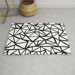 Mozaic Triangle White Rug