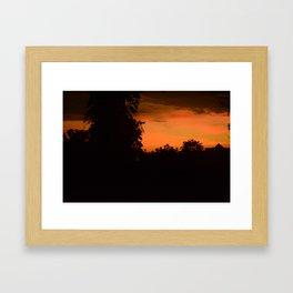 Borneo Sunset Framed Art Print