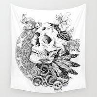 dead Wall Tapestries featuring DEAD by Marcelo Lopes